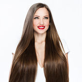 Beautiful woman with healthy long hair — Stock Photo