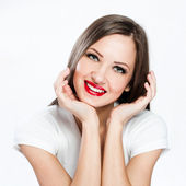 Portrait of smiling lady — Stock Photo