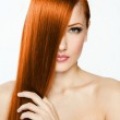 Beautiful young red-headed woman — Stock Photo #21925263