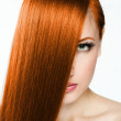 Beautiful young red-headed woman — Stock Photo #21925283