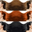 Fashion hairstyle collage — Stock Photo #22616135