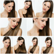 Fashion hairstyle collage — Stock Photo #27207935