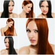 Fashion hairstyle collage — Stock Photo #27207939