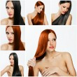 Fashion hairstyle collage — Stock Photo #27207941