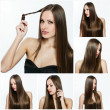 Fashion hairstyle collage — Stock Photo #27207951