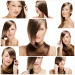 Fashion hairstyle collage — Stock Photo #27214615