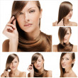 Fashion hairstyle collage — Stock Photo #27214617