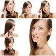 Fashion hairstyle collage — Stock Photo #27214623