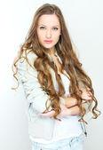 женский портрет молодой случайный стиль — Стоковое фото