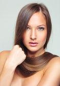 Mulher com pele perfeita — Fotografia Stock
