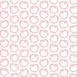 Seamless red apple print pattern on white — Stock Photo