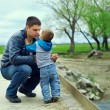 Father and son relationships. countryside landscape — Stock Photo #13549406