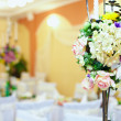Wedding, event decor of restaurant interior — Stock Photo