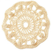 Handmade crochet round motif isolated on white — Stock Photo