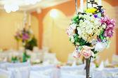 Wedding, event decor of restaurant interior — Stock Photo