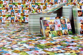 Huge number of printed products. photo business card — Stock Photo