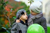 милая маленькая пара в любви — Стоковое фото