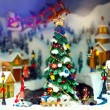 Toy christmas town — Stock Photo #16228663