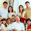 Big family at home — 图库照片