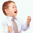 Successful business child expressing positivity — Stock Photo