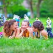 Royalty-Free Stock Photo: Happy teenage friends having fun in spring park