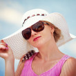 Summer portrait of elegant woman — Stock Photo