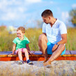 Misunderstandings between father and son — Stock Photo