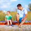 Misunderstandings between father and son — Foto Stock