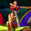 Teenage kids having fun in summer camp — Stock Photo