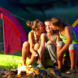 Teenagers flirting in summer camp — Stock Photo #39260321