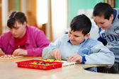 Cognitive development of kids with disabilities — Stock Photo