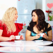 Plus size women sitting in cafe — Stock Photo #44607937