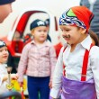 Group of painted kids on party — Stock Photo #45365485