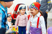 Group of painted kids on party — Stock Photo