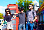 Youth culture relation, friends on the street — Stock Photo