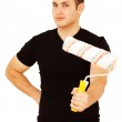 House painter with paint roller — Stock Photo #16502325