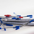Pen, blue, red and black — Stock Photo