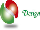Logo design red green — Stock Photo