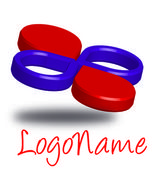 Red violet logo — Stock Photo