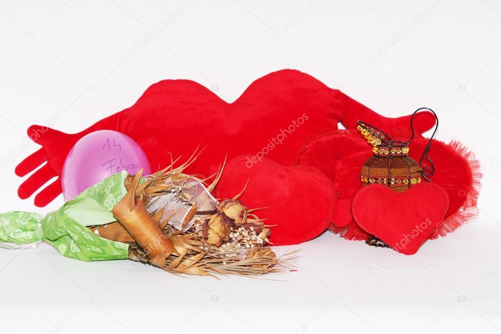 Hearts valentines day, red heart — Stock Photo #18481683
