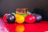 Easter and candel — Stock Photo