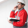 Engineer talking by phone — Stock Photo