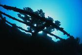 Shipwreck underwater — Stock Photo