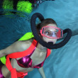 Stock Photo: Female scubdiver