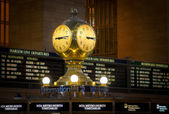 Clock at the departure lounge of Central Station, New York City — Stock Photo