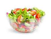 Vegetable salad in glass bowl — Stock Photo