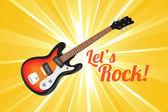 Låter rock — Stockvektor