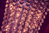 Glowing glass balls — Stock Photo