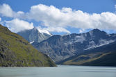 Dixence Lake and Mont Blanc de Cheillon — Stock Photo
