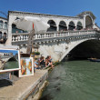 Foto de Stock  : Rialto Bridge in picture in picture